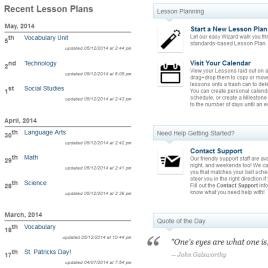 Lesson Plan Dashboard