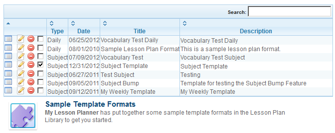 My Lesson Planner Collaborative WebBased Online Lesson Plan - Rti lesson plan template