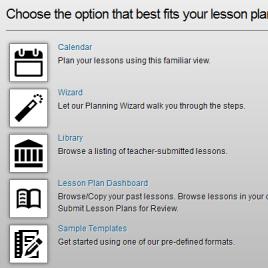 Lesson Plan Options