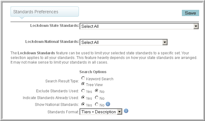 preferences-standards
